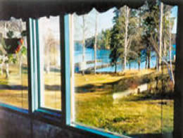 View of Lake Throught the Window