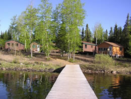 Dock by Cabins on Lake